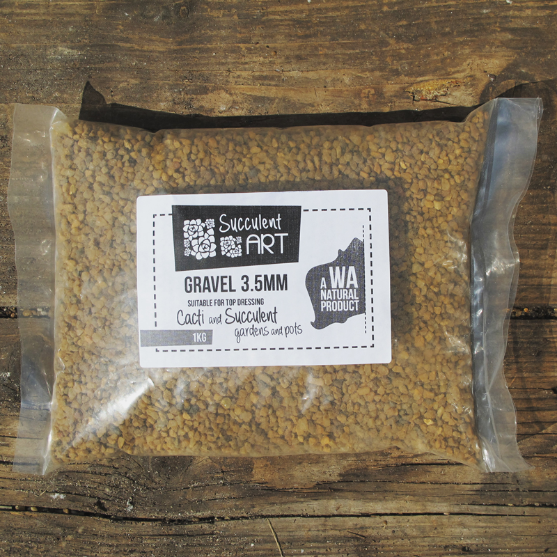 Natural Gravel  - 3.5mm. A WA natural Product, suitable for top dressing cacti, succulents, and miniature gardens!